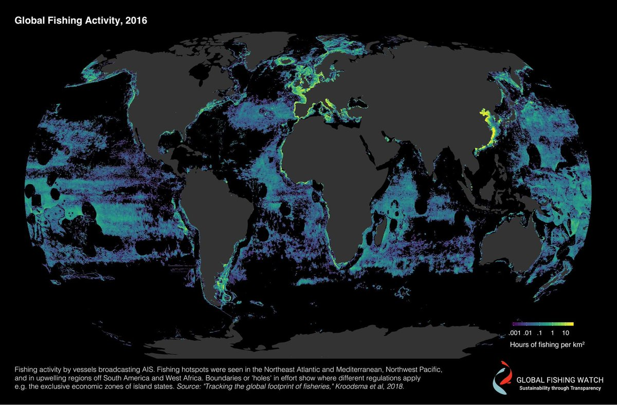 The black fish on twitter maps from globalfishwatch have revealed this is a staggering amount and definitely poses questions on exactly how much damage were causing to the marine environment gumiabroncs Images