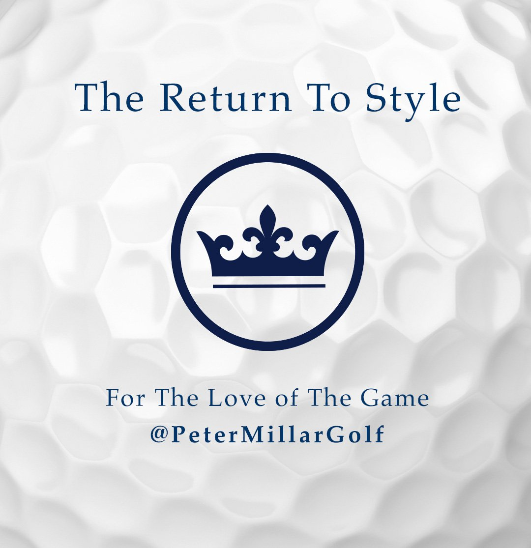Follow our new Instagram golf account @petermillargolf #petermillargolf #crownstyle https://t.co/Yqhdij1MR3