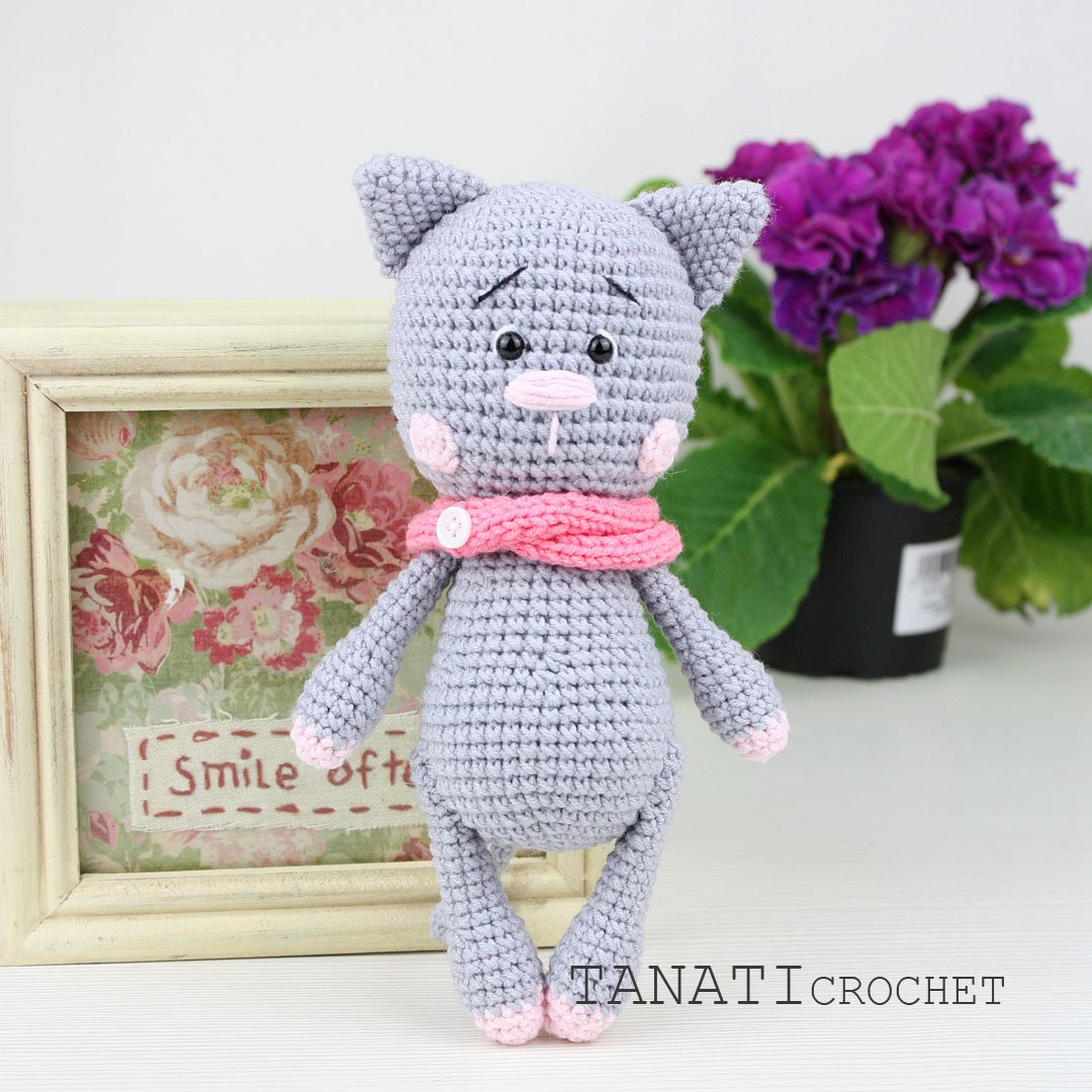 Curious Cat Free Crochet Pattern - Knit And Crochet Daily | 1080x1080