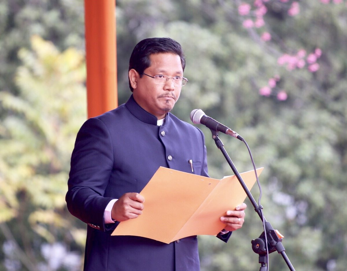 Conrad Sangma takes oath as the new CM of Meghalaya