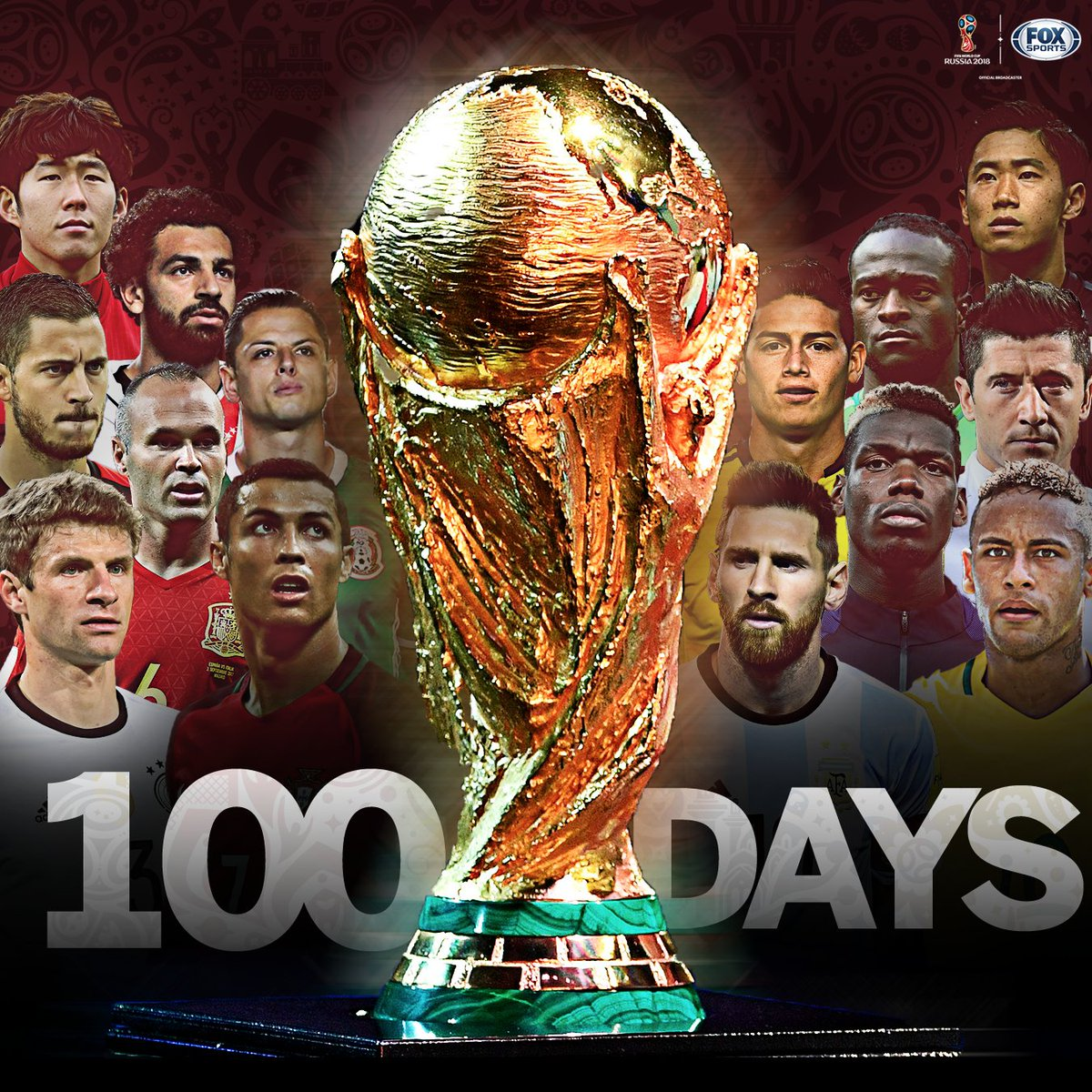 ONLY 👏 100 👏 DAYS 👏 UNTIL 👏 THE 👏 WORLD 👏 CUP👏