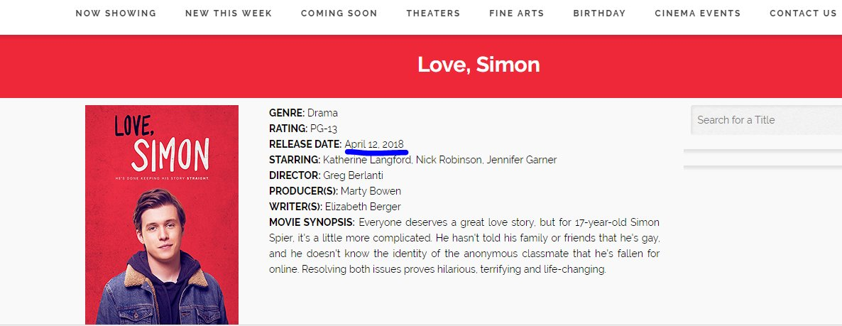 My TL: OMG I CANT WAIT TO WATCH #LOVESIMON IN TWO WEEKS Me: