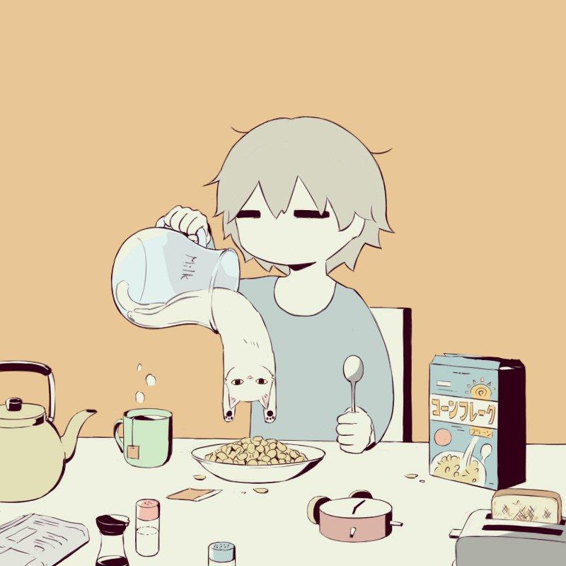 ネコは液体にもなり得る!?こんな牛乳かけてほしい!の声が続出中www