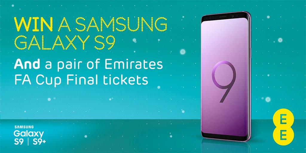 Want to #win a Samsung Galaxy S9 AND a pair of Emirates FA Cup Final tickets? Reply #WinAGalaxy and the correct answer by 5 pm on Friday to enter: How long can you access the BT Sport App when you take a Max plan on EE? - 1 month - 3 months - 24 months Terms in reply.