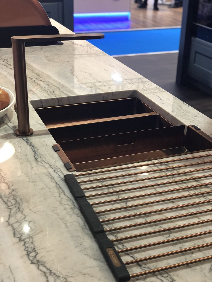 #TapTuesday: Come and see the latest additions to our new tap collection, on stand K100 at #kbb18. We love the Karns super-stylish copper finish! #Caplequality