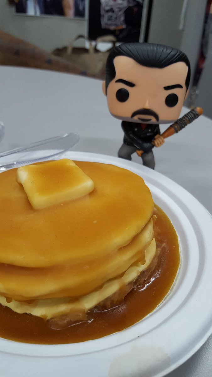 Be grateful he only wants half your #pancakes on #pancakeday2018 - #negan #TheWalkingDead #twd #NationalPancakeDay #twdfamily #soap