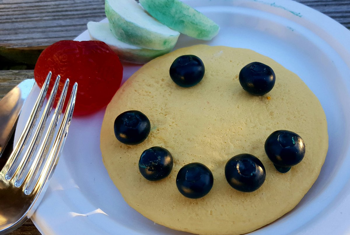 Negan always serves breakfast with a smile on #pancakeday2018 #NationalPancakeDay #pancake #negan @JDMorgan #TheWalkingDead #twd @SonequaMG #foodie @UndeadWalkingFS @WalkingDeadArmy
