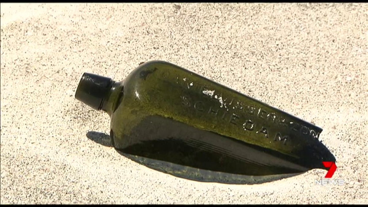 The world's oldest-known message in a bottle has been found on a beach north of Perth. #7News