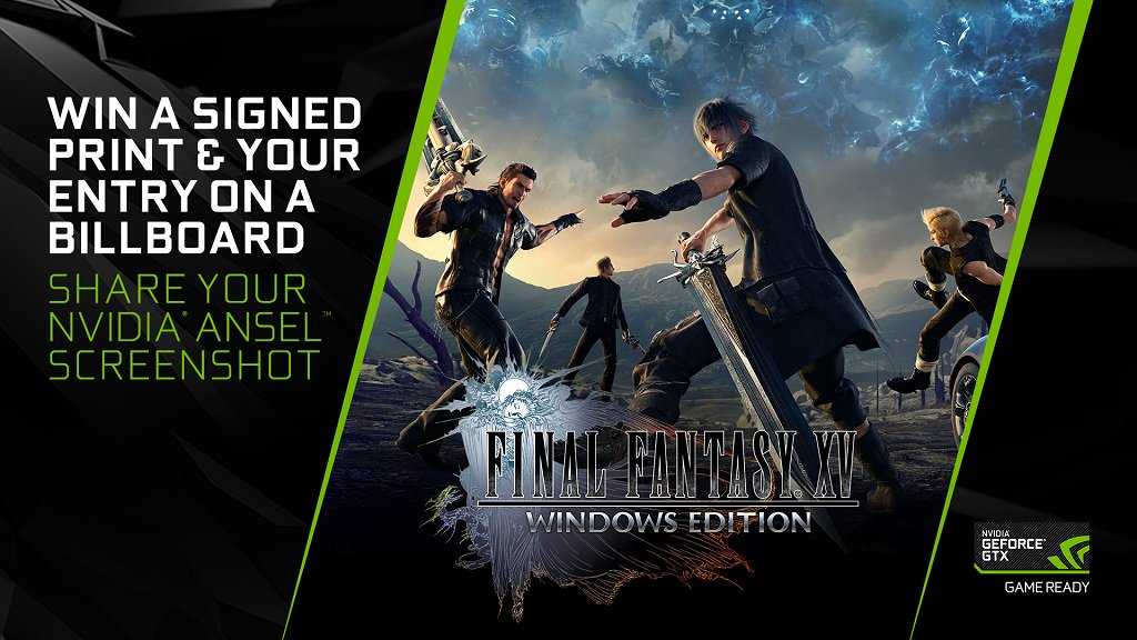 Win a dev signed print of your @FinalFantasy 15 Ansel screenshot & get it featured on a @SQUARE_ENIX_EU billboard! Simply share your Ansel shot using #FFXVSHOTWITHGEFORCEGTX & Tag @NVIDIAGeForceUK before March 20th! More info:nvda.ws/2HbodO1