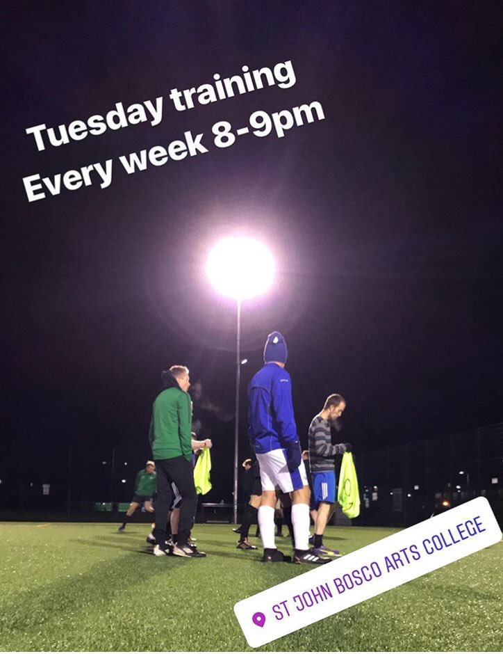 TUESDAY TRAINING Newcomers welcome 🙌🏽🙌🏽...