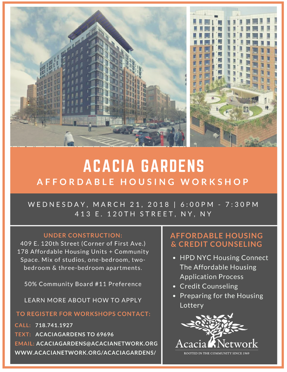 Acacia Network On Twitter Update Due To A Winter Storm Warning Gardens Affordable Housing Work Has Been Rescheduled Wednesday