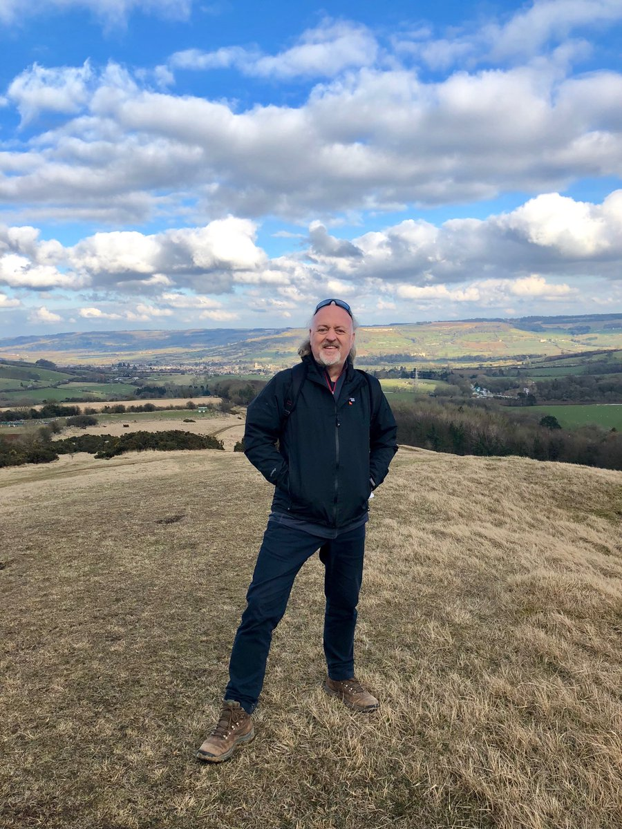 Bill Bailey on Cleeve Hill Common
