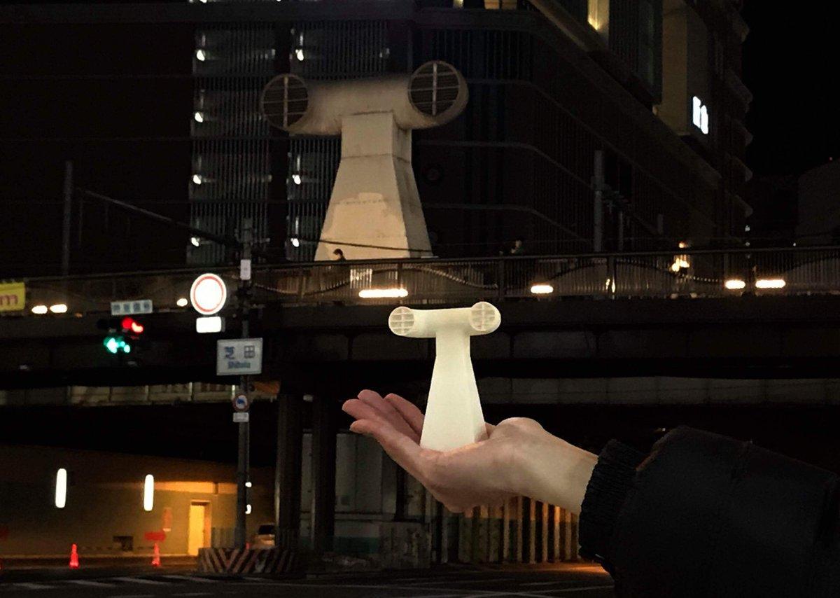 大阪駅にある謎のアレのフィギュアを作りました。