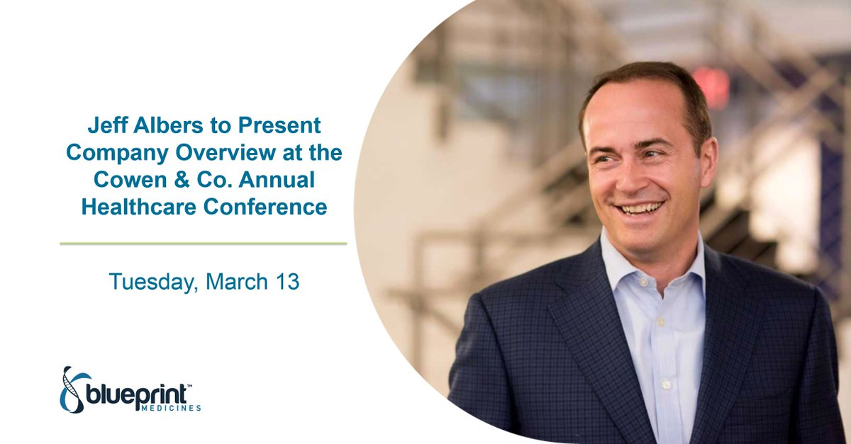 Carolyn pastore pastorecarolyn twitter bpmc ceo jeff albers blueprintmedceo is presenting next week at the cowen co annual healthcare conference in boston httpowx49w30imy98 malvernweather Choice Image