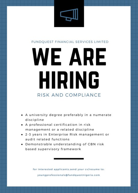 Fundquest Nigeria On Twitter Job Vacancy Positions Internal