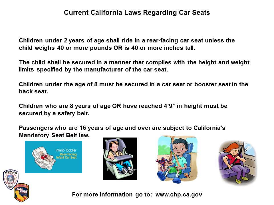 MercedCoFireOES On Twitter Car Seat Laws And Safety