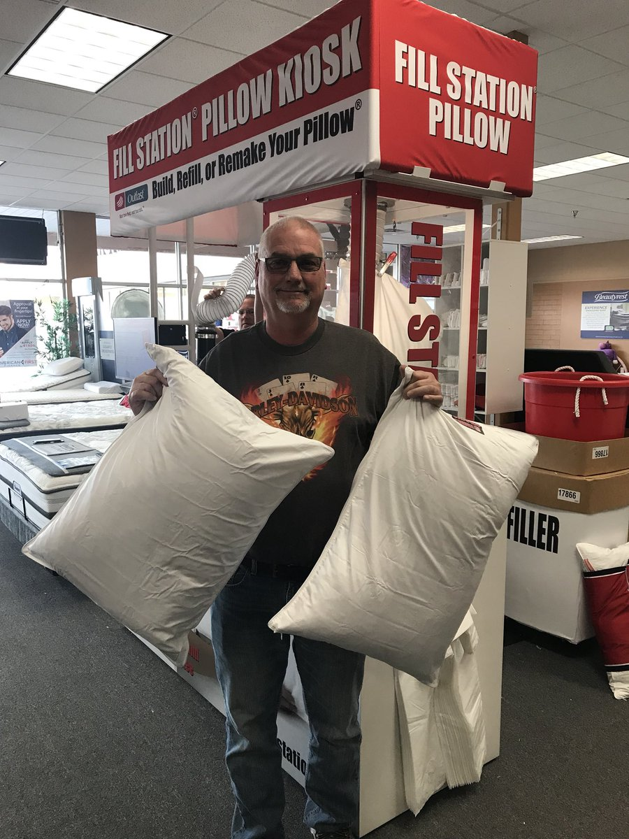 """21b801b8e2b ... find"""" Feather Pillows with our Fill Station Pillow Kiosk!!! Come in and  get YOUR custom made Pillow today!!!  featherpillow  custompillow   custompillows ..."""
