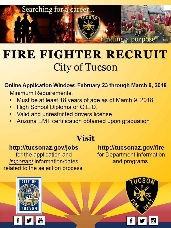 Tucson fire department on twitter have your application in the tucson fire department on twitter have your application in the online window closes this friday for fire fighter recruits here at tfd publicscrutiny Gallery