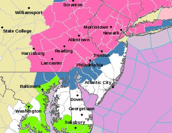 NWS has just added Lancaster, York, Dauphin, and Lebanon counties to the #WinterStormWarning zone. Makes sense given the likelihood of 6&quot;+ for much of the county. <br>http://pic.twitter.com/xLgoBE2VId