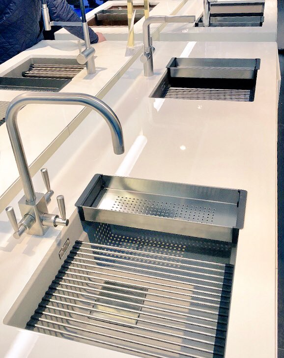 We are loving the new sinks from @FrankeUK at #kbb18 today. #moreinstore