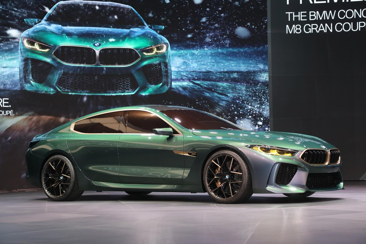 motor trend on twitter the bmw m8 gran coupe concept shares design cues with the regular 8. Black Bedroom Furniture Sets. Home Design Ideas