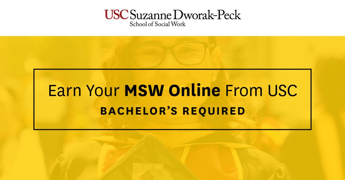 Social Work Degree Online >> Msw Usc On Twitter Bachelor S Degree Required The
