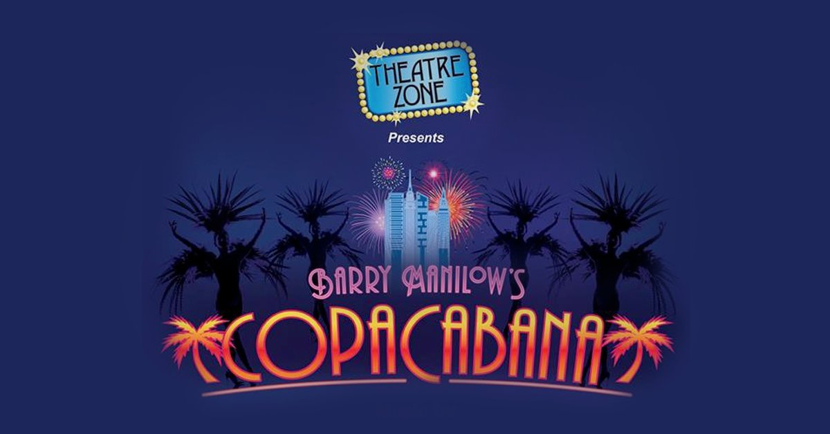 """""""Her name was Lola! She was a showgirl!"""" #BarryManilow's popular tunes come to life in the #CopaCabanaMusical! Tickets available March 8-18  @TheatreZoneFL. http://bit.ly/2s99mRfpic.twitter.com/oYPDbOsRQM"""