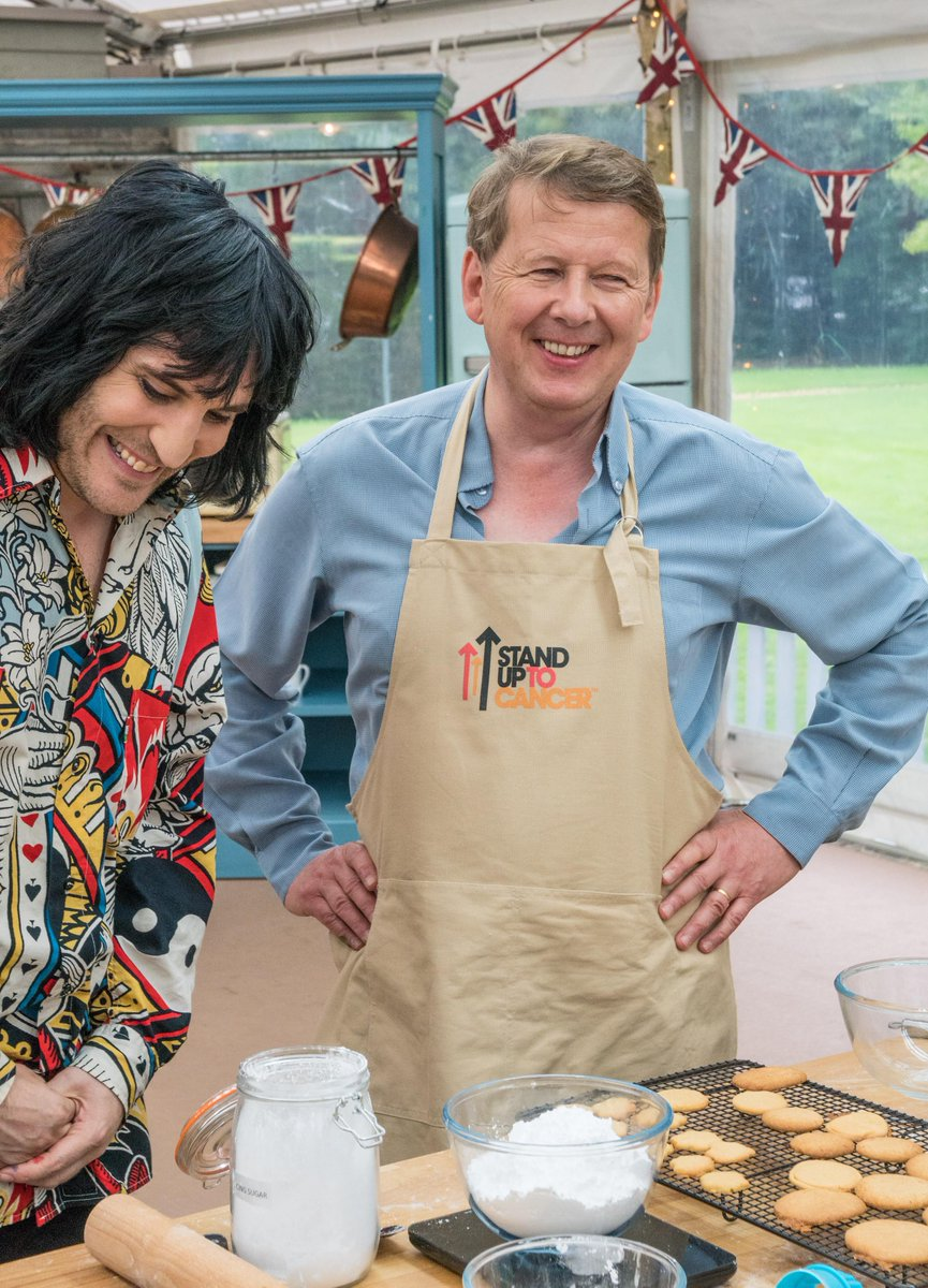 We #StandUpToCancer for @billtu – thank you for sharing your story so openly on tonight's #GBBO. To Stand Up with us, text TWENTY or TEN to 70404 to donate £20 or £10 or donate what you can online: po.st/z6wpj3. Thank you.