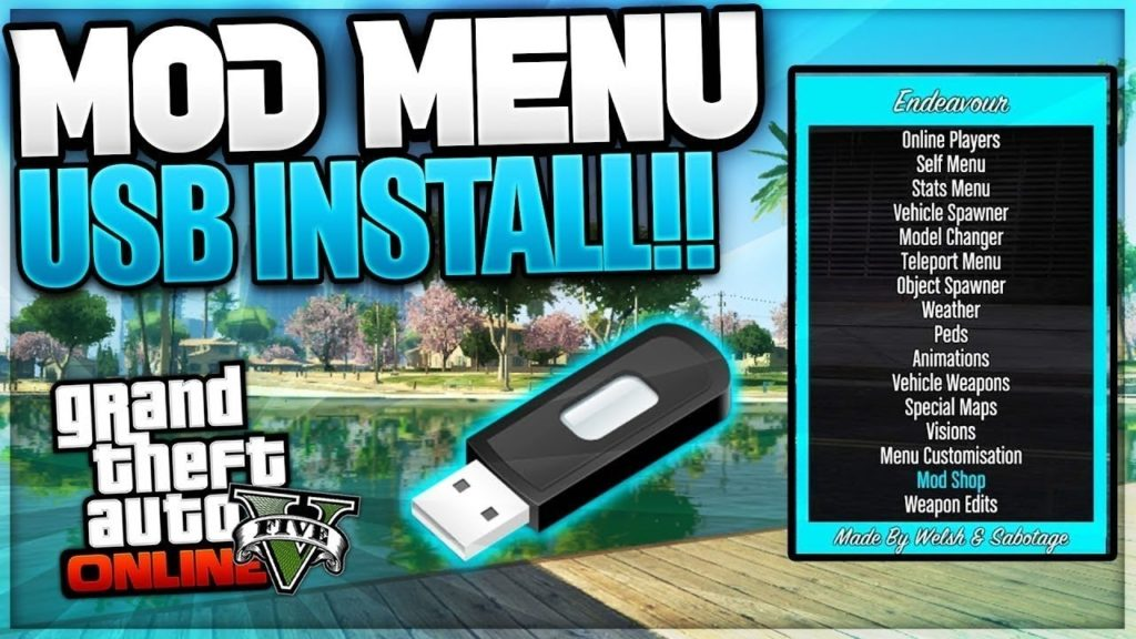 Mod menu gta 5 ps4 usb
