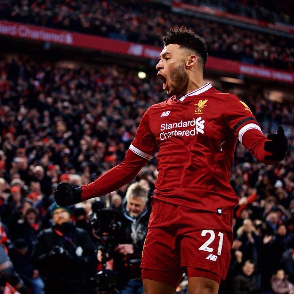 After 6 years with Arsenal Alex Oxlade-Chamberlain finally makes it to the UCL Quarterfinals with Liverpool in just 6 months 2012 - Lost to Milan 2013 - Lost to Bayern 2014 - Lost to Bayern 2015 - Lost to Monaco 2016 - Lost to Barcelona 2017 - Lost to Bayern 2018 - Win v Porto