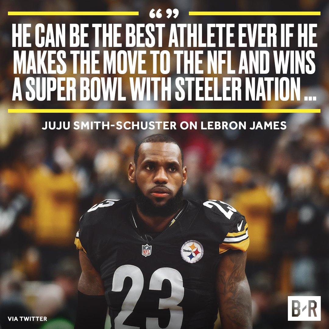 JuJu makes his case for LeBron to join the Steelers.