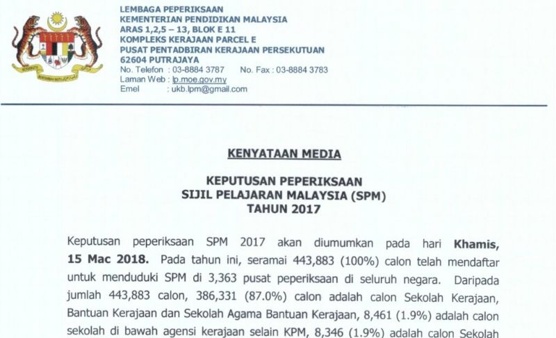 Afterschool My On Twitter It S Official Learn How To Check Your Spm 2017 Results Online Via Sms Here Spm Spm2017 Moe Https T Co Iuhsc7mtyw Https T Co 1rhylgoyo5