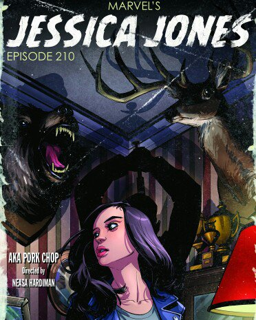 @CarlosRLao Did the design work on these cool covers for #Netflix #jessicajones season 2. Awesome art by @amyreeder