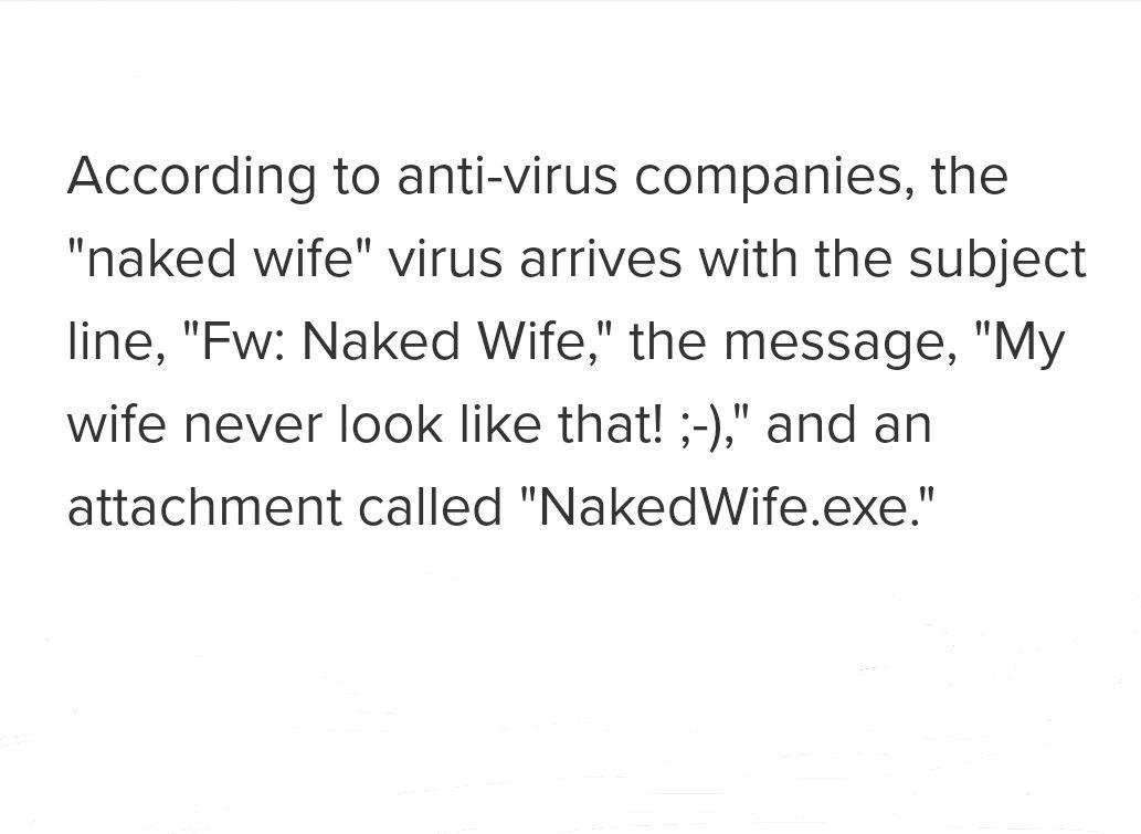 Naked wife virus
