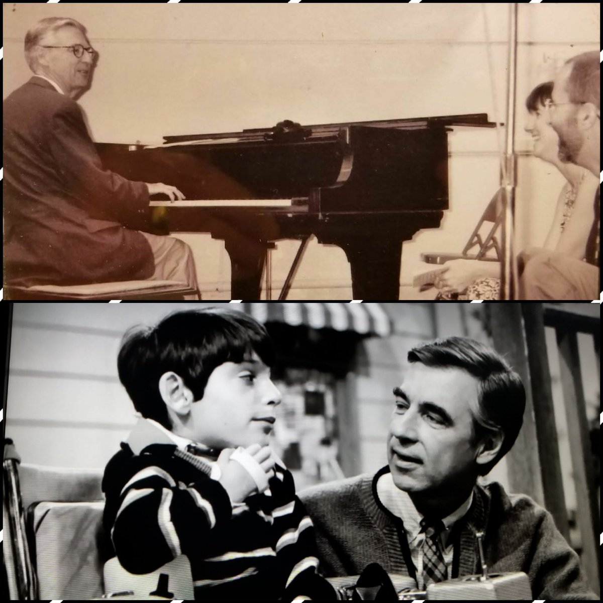 Saleem Ghubril On Twitter The Iconic Image Of Mr Rogers With His Young Friend Jeff Erlanger Below The Not So Iconic But Very Special To Us Is The Evening Mr Rogers Visited