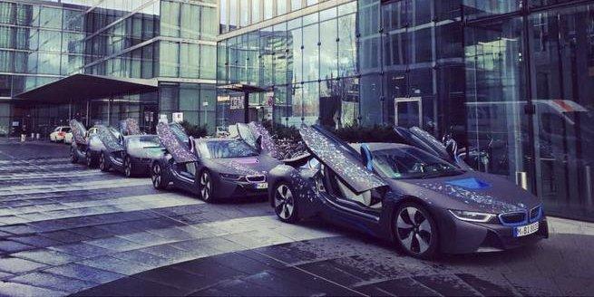 BMW I8 Custom >> Ibm Twitterissa These 4 Bmw I8 Hybrid Sports Cars Live At