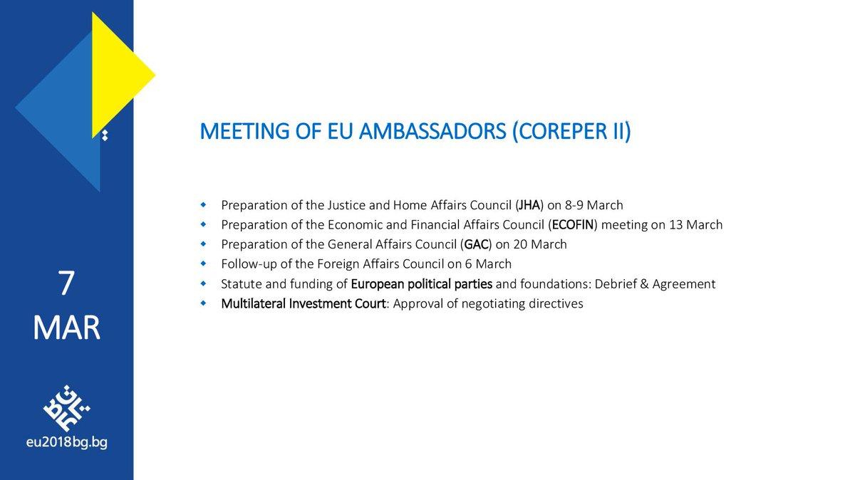 Bulgaria In The Eu On Twitter Coreper 2 Ambassadors Will