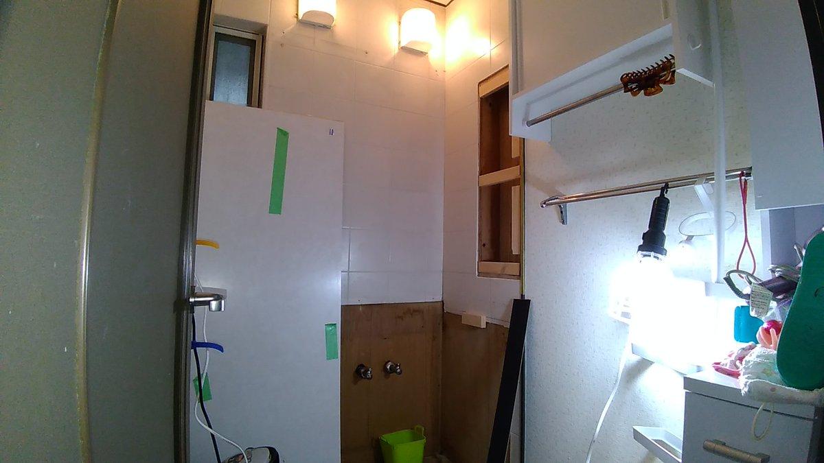 バロン設備 On Twitter 洗面化粧台 の施工 2 お子さんが小さい為