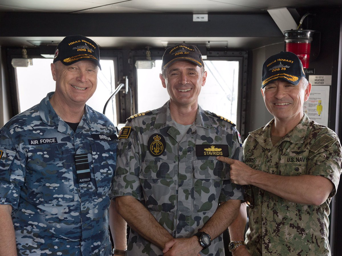I was very pleased to show @PacificCommand's ADM Harris #yourADF's world class capability & exceptional crew in HMAS Hobart today