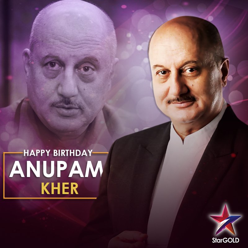A powerhouse of talent, hes an entertainer loved by all. Wishing the amazing @AnupamPKher, a very Happy Birthday!