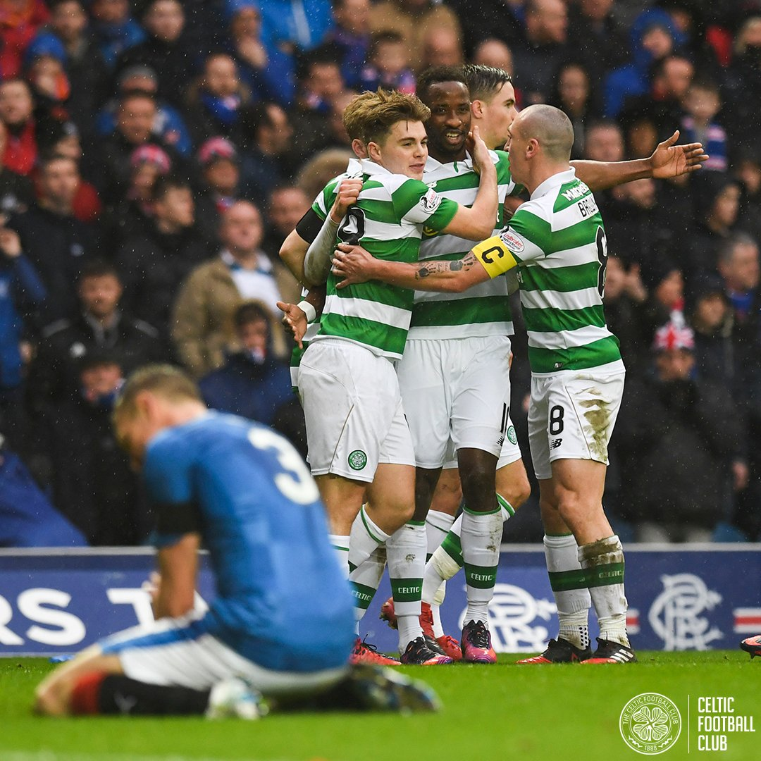 Dembele Sinclair (2) Griffiths (2) McGregor Boyata Lustig Rogic 9⃣ goals, 7⃣ different scorers and 3⃣ wins in our last 3⃣ trips to Ibrox. Whats been your favourite ⚽️? #RANCEL