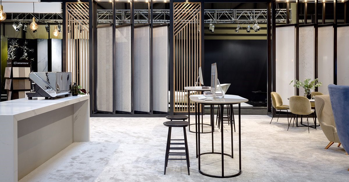 It's the last day at #kbb18, and the last day to preview our upcoming #quartz surfaces from our Spring collection. Come and join us at stand X90, Hall 17 to meet the #Caesarstone team.