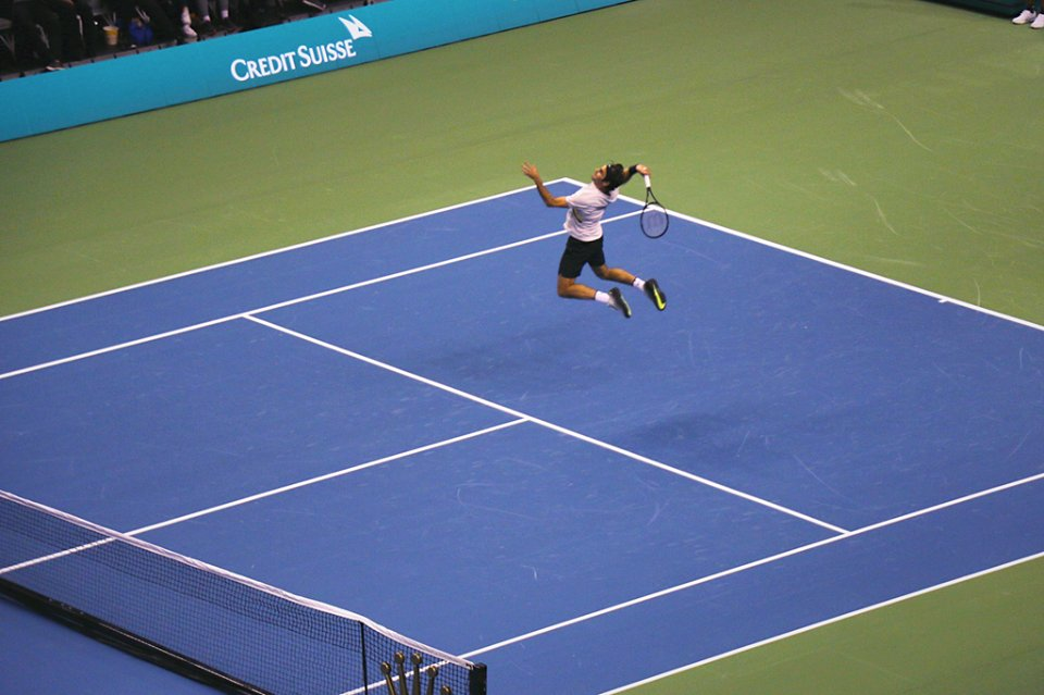 We Are Tennis On Twitter Jumping Smash By Federer Matchforafrica