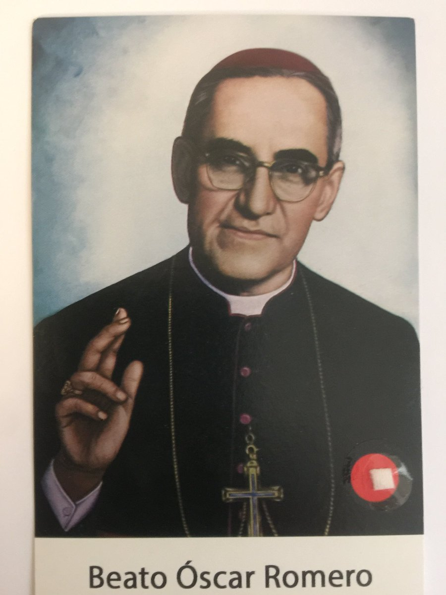 "Soon to ""Santo"" #Romero https://t.co/CRm..."