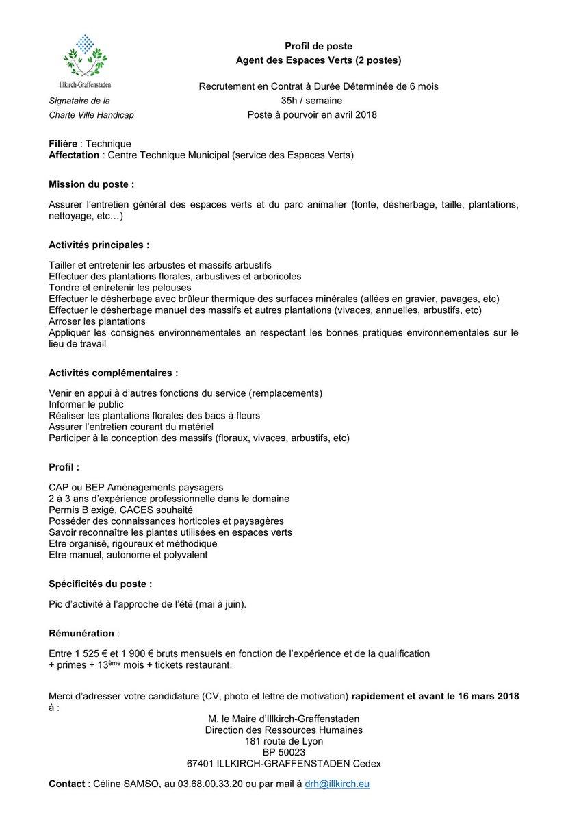 a378f6cc0f0 Recrutement en Contrat à Durée Déterminée de 6 mois - 35h   semaine - Poste  à pourvoir en avril 2018. https   t.co ublMHFzEbY ...