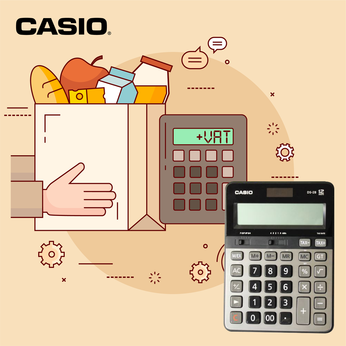 casio calculators me on twitter for all your groceries vat our