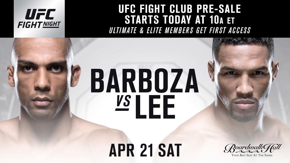 FIGHT CLUB MEMBERS! Get your tickets for #UFCAC NOW: bit.ly/2FqilQw