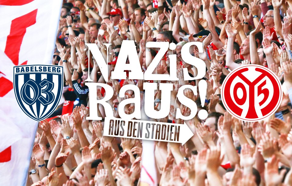 #nazisrausausdenstadien – auch #Mainz05 unterstützt den Kampf gegen Rechts!  ➡ https://t.co/tVAvchfcC8