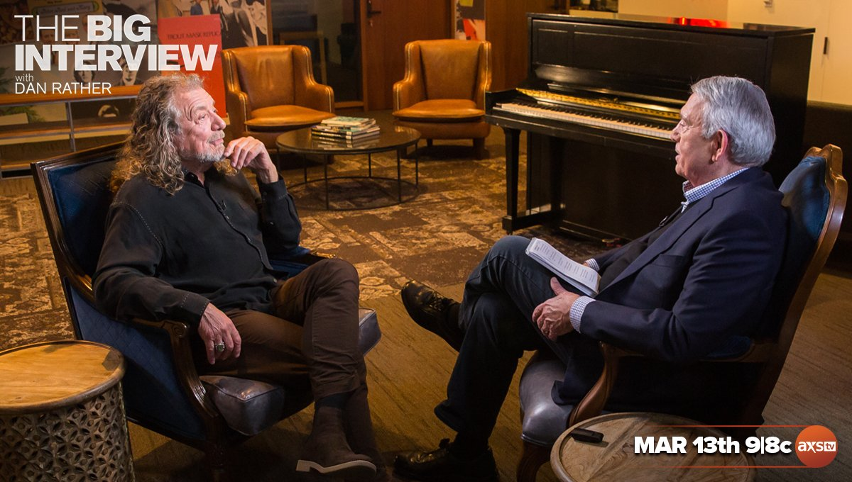 RP sat down with @DanRather for an episode of #TheBigInterview. Watch their conversation next Tuesday, March 13, on @AXSTV! You can set your DVR at vupulse.com/c/3019