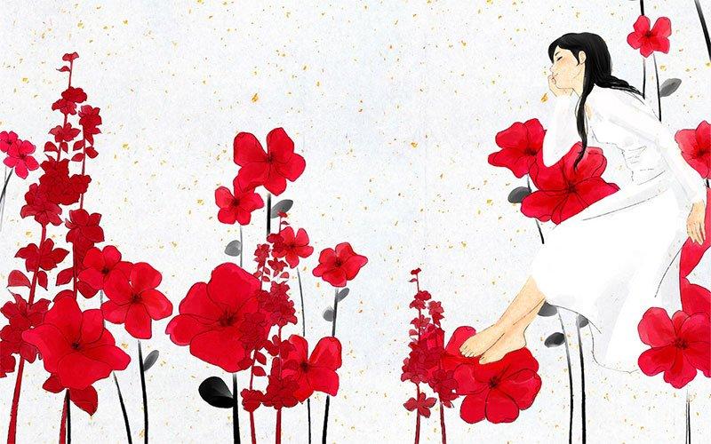 Корейская открытка, восемь